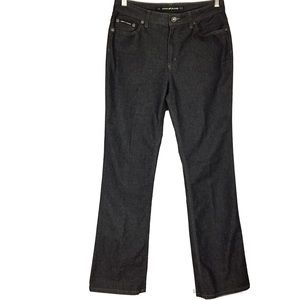 DKNY 6L soft black denim straight leg jeans